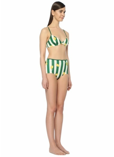 Solid & Striped Bikini Alt Beyaz